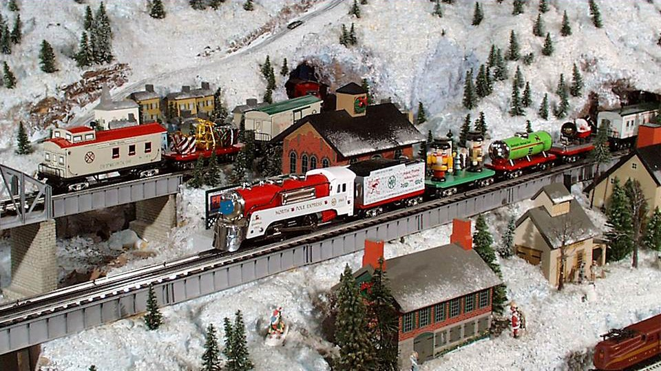 adirondacks_winter scene_custom model railroads