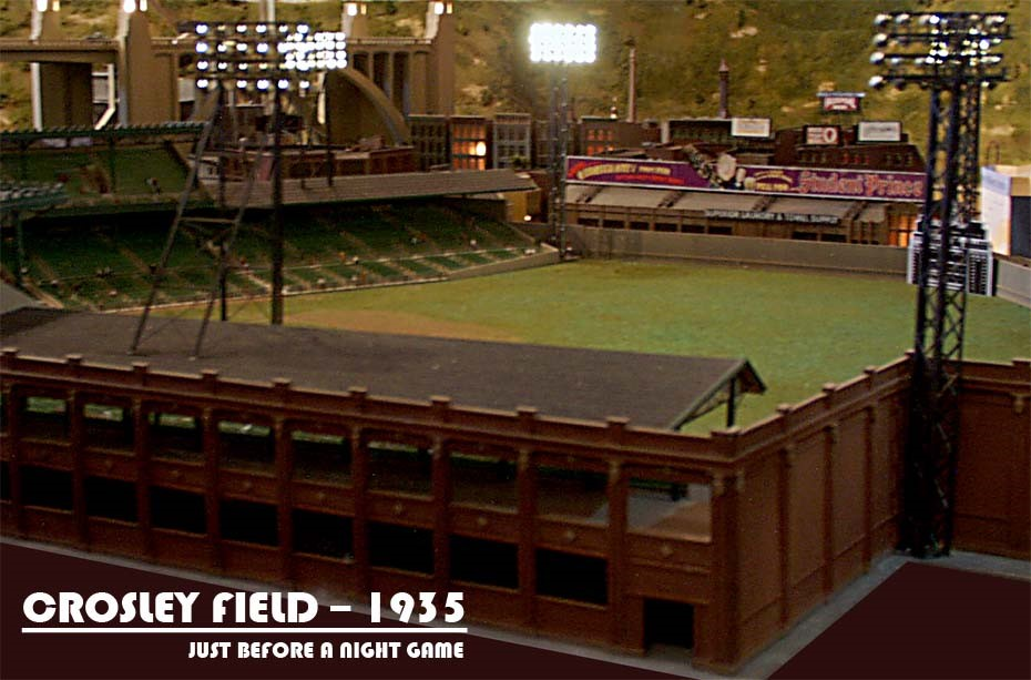 CROSLEY FIELD_HO SCALE_MODEL TRAINS