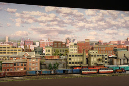 BOSTON AND MAINE RAILROAD_CUSTOM MODEL TRAIN LAYOUT