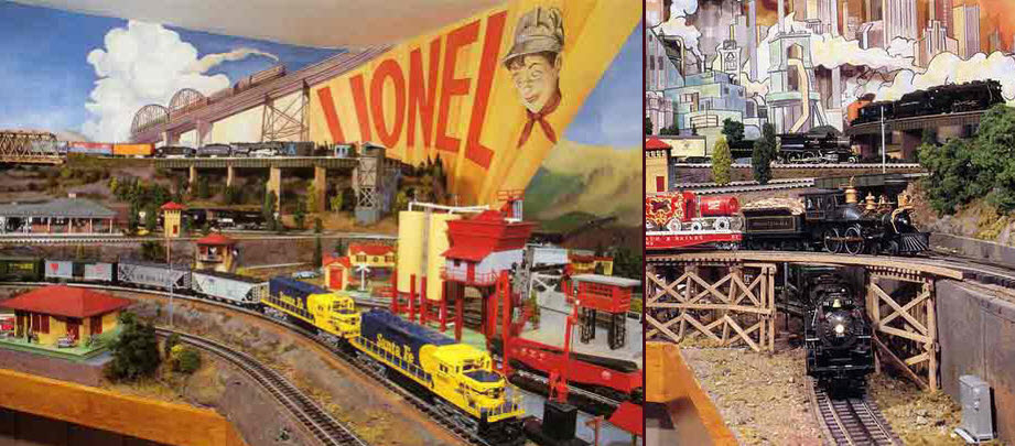 LONG ISLAND EXPRESS -- LIONEL BOY AND BRIDGES_MODEL TRAIN LAYOUT