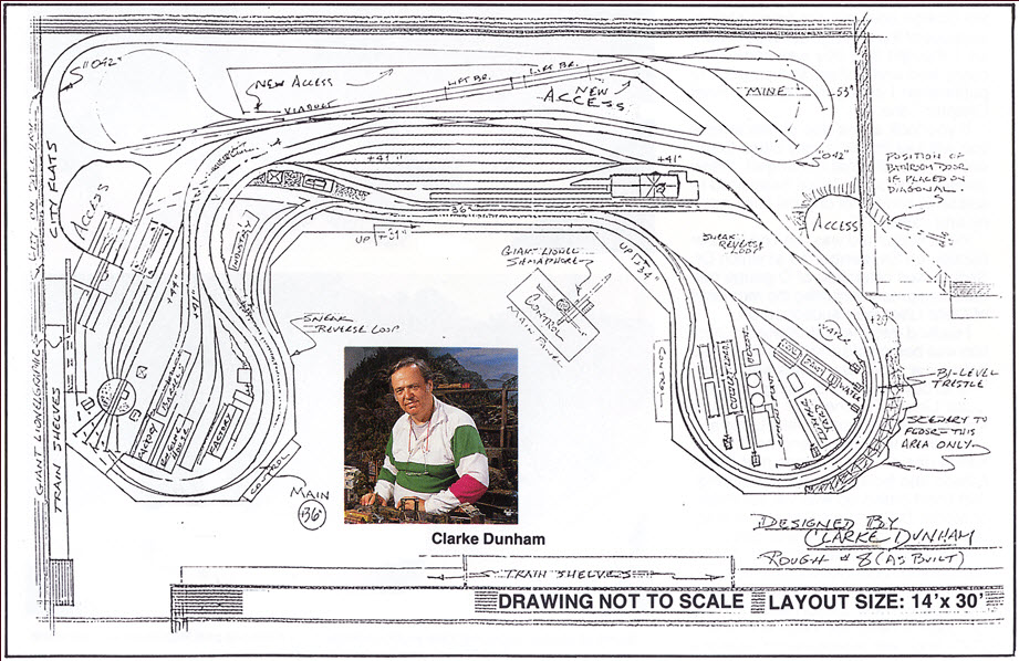 LONG ISLAND EXPRESS -- O GAUGE TRACK PLAN_MODEL TRAIN LAYOUT